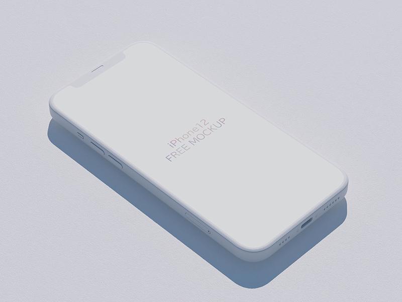 iPhone 12 Isometric Mockup