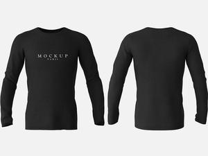 Long Sleeve T-Shirt Mockup Front & Back