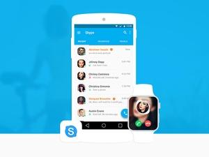 Material Design Skype