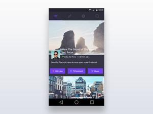 Social App Feed Concept
