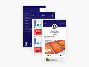 Dribbble App UI