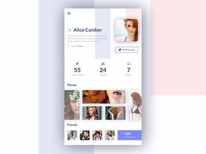 Mobile User Profile UI
