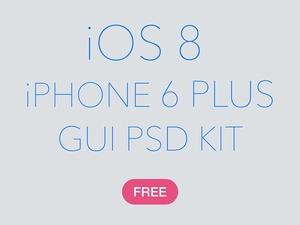 iOS 8 iPhone 6 Plus GUI