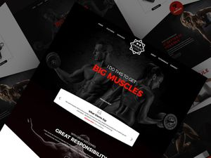 Gym Website Template For Photoshop