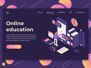 Online Education Landing Page Template Design