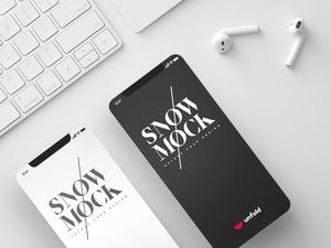 SnowMock – iPhone X Mockup