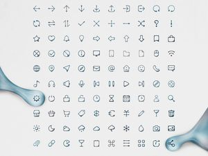 100 Ink Style Icons