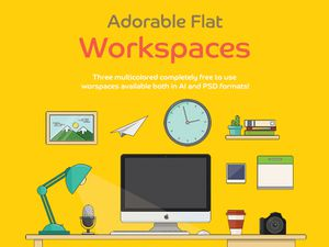 Adorable Flat Workspace