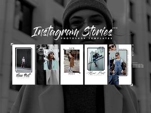 Five Instagram Stories Templates 2018