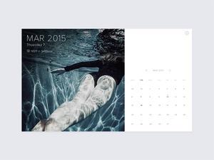 Minimal Calendar With Weather