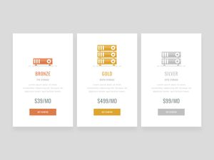 Simple Pricing Table Design