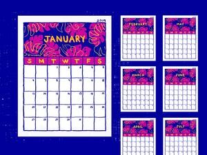 Free Printable 2019 Monthly Calendar