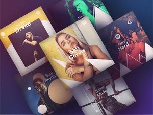 6 Hipster Spotify Playlist Art Concept