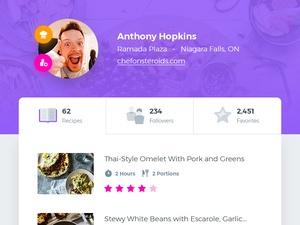 User Profile UI Screen