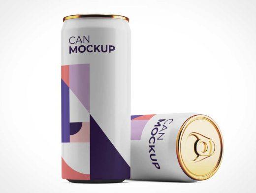 Aluminium Soda Can PSD Mockups