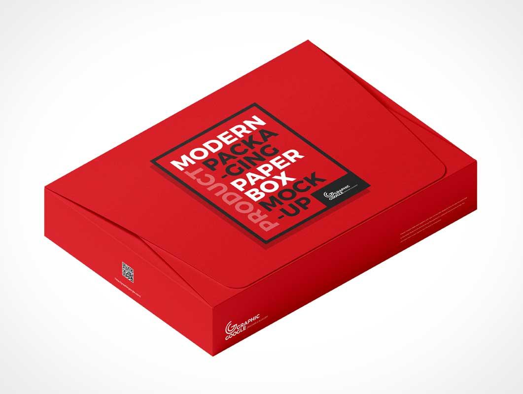 Cardboard Paper Box Packaging PSD Mockups