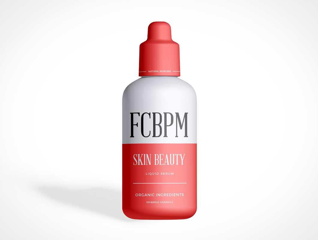Botella de embalaje de belleza cosmética PSD maqueta