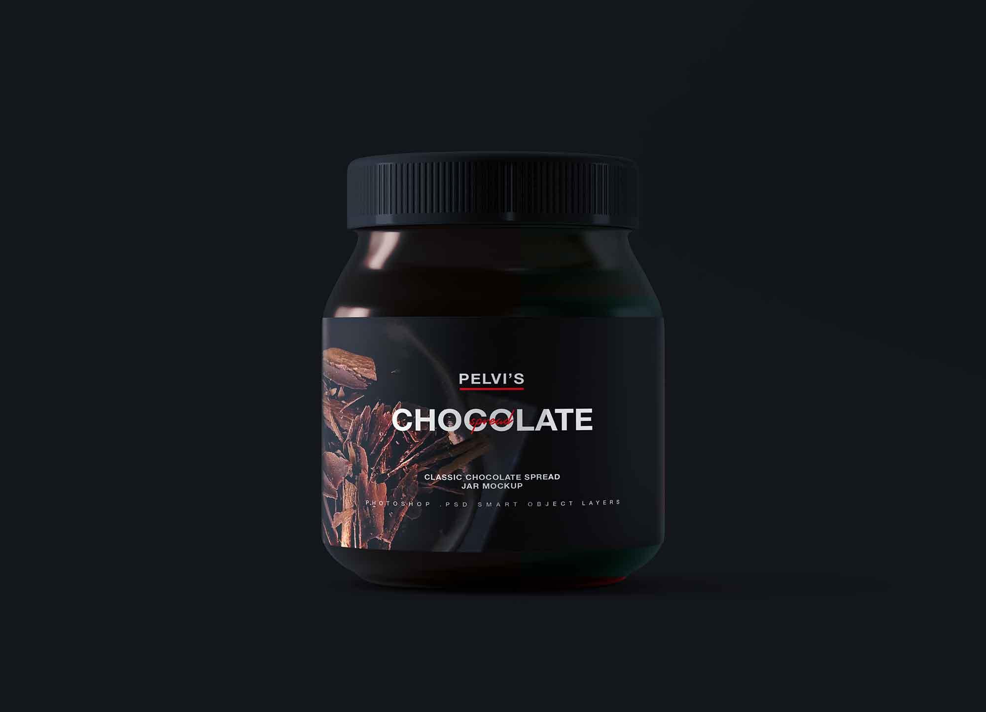 Free Glass Chocolate Jar Mockup