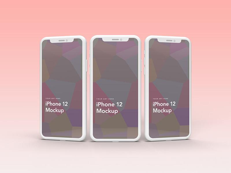iPhone 12 Clay Mockups