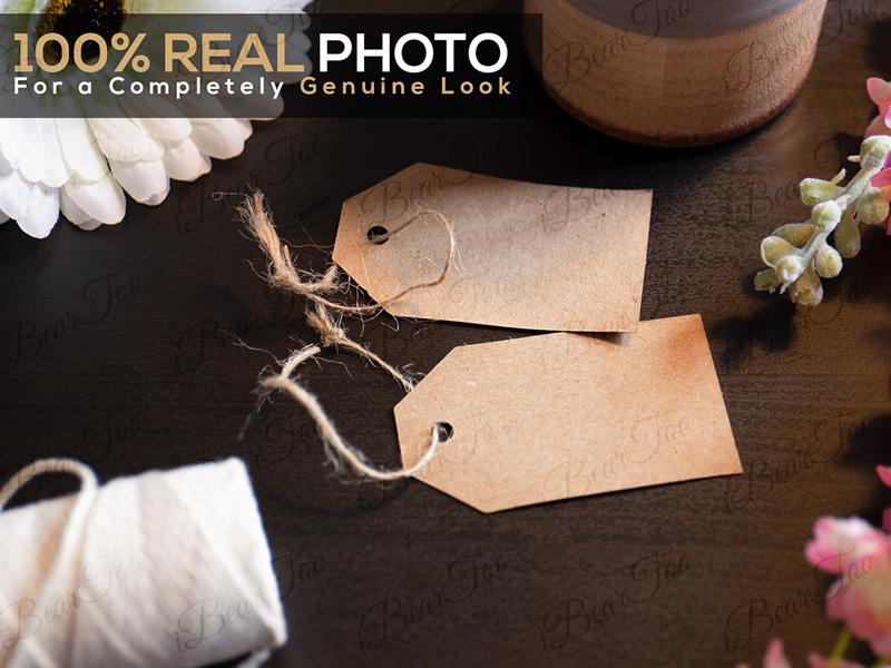 Two Cardboard Tag Labels Mockup