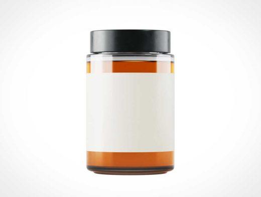 Glass Honey Jar PSD Mockups
