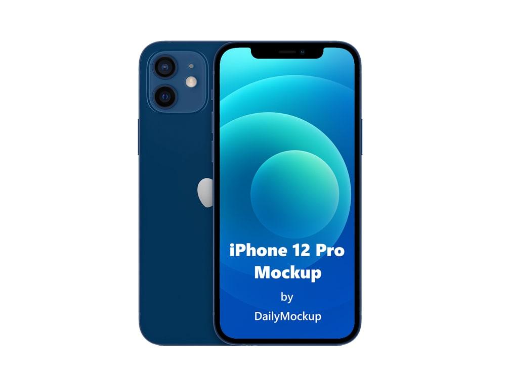 iPhone 12 pro Mockup Free Download