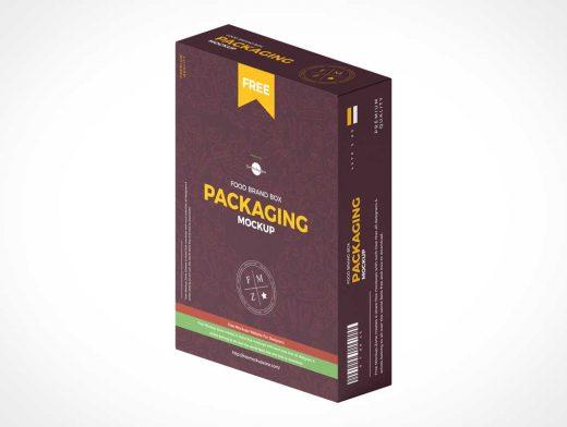 Isometric Box Food Brand PSD Mockups