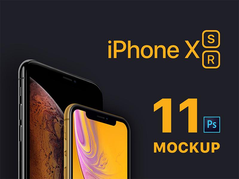 "New 2018 iPhones Mockups ""iPhone XS & iPhone XR"""