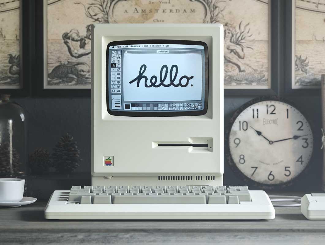 Original Macintosh 1984 PSD Mockup