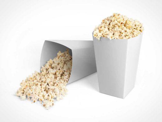 Popcorn & Box Packaging PSD Mockups