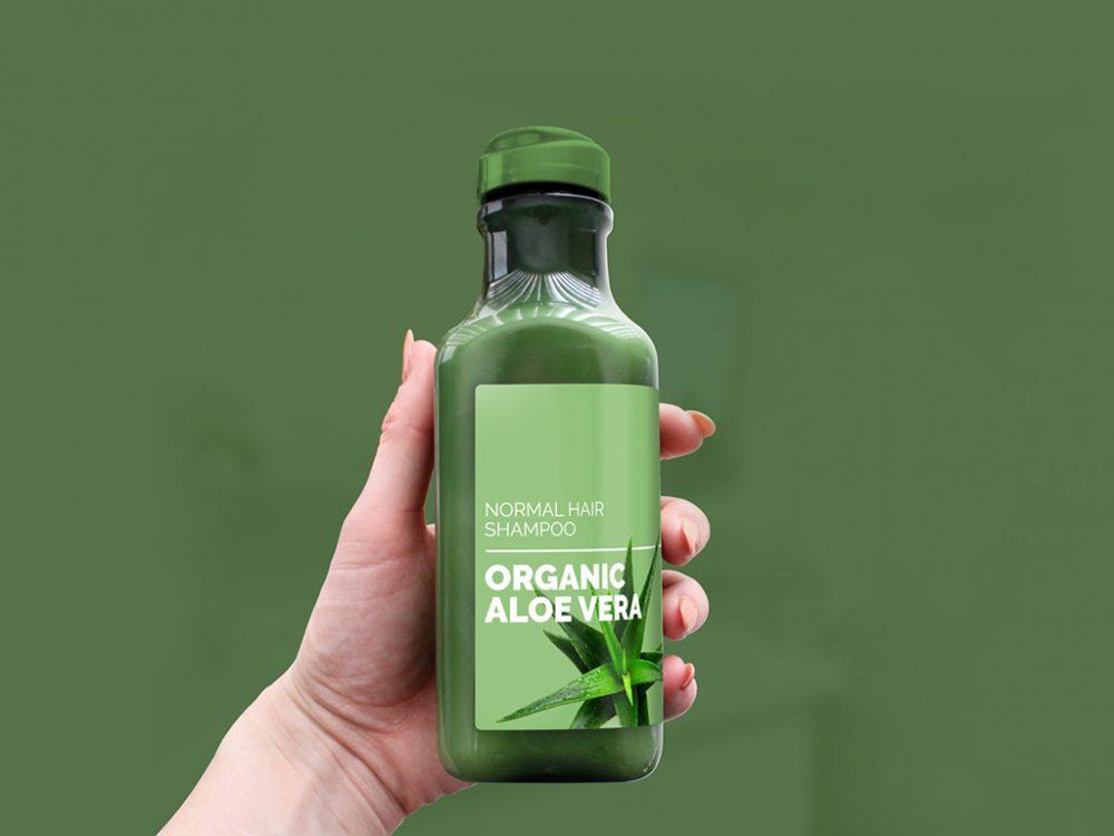 Shampoo Bottle Packaging Mockup