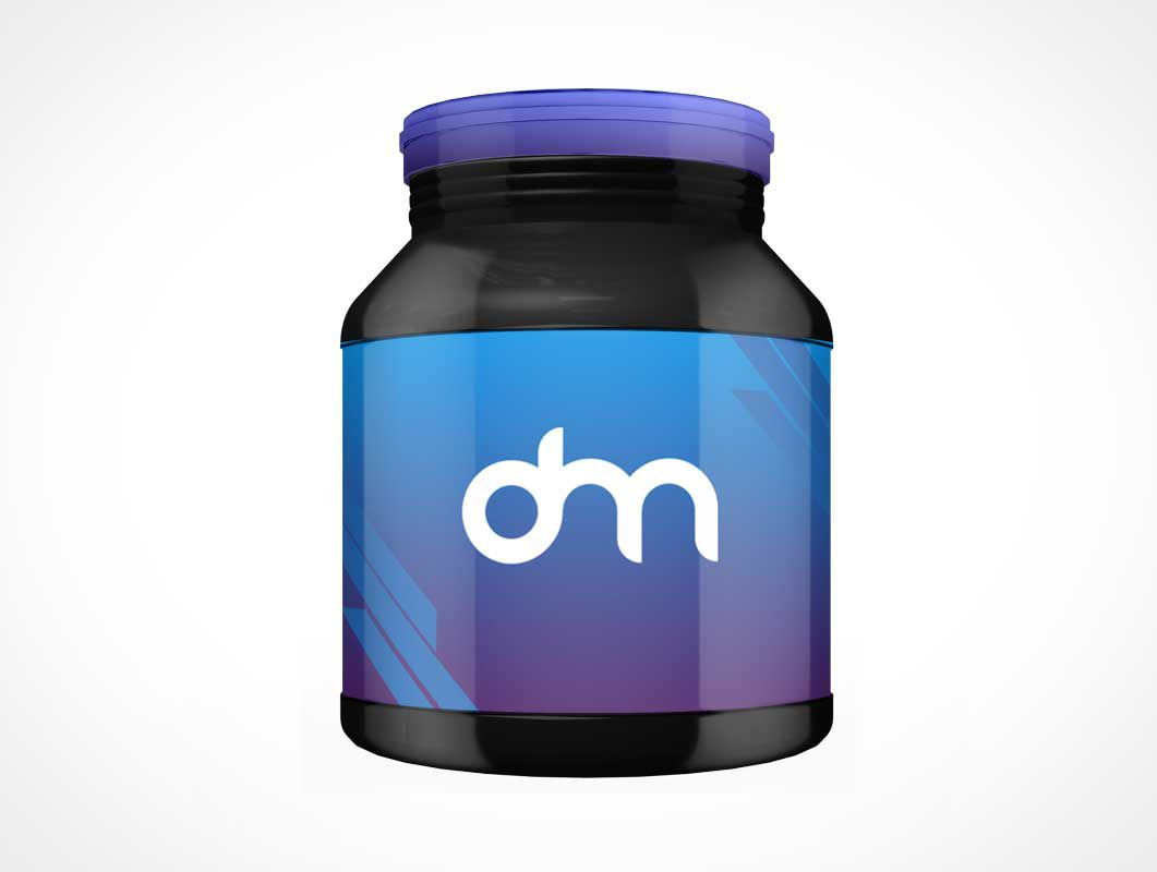 Supplement Jar Protein Container PSD Mockups