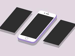 Flat Isometric iPhone 6S Plus Mockup