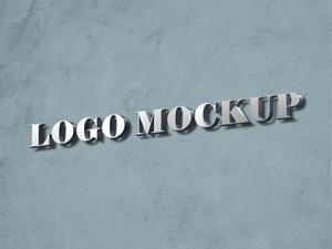 Free 3d Logo Mockup on Wall