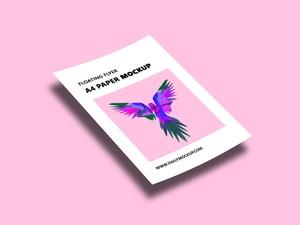 Floating Flyer A4 Paper Mockup