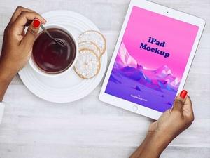 ベスト無料 iPad モックアップ PSD