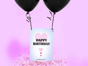 Birthday Greeting Card Mockup