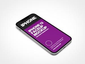 iPhone 13 Faceup PSD Mockups
