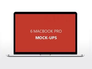 6 Unique MacBook Mockups Free PSD