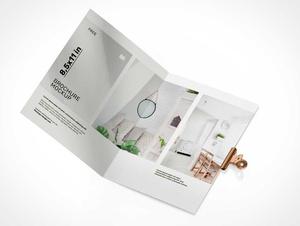 A4 Booklet Brochure & Binder Clip PSD Mockup