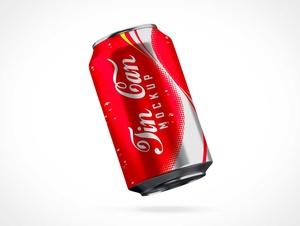Aluminium Soda Can PSD Mockup