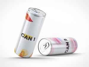 Aluminum Slim Soda Can PSD Mockups