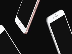 Floating iPhones