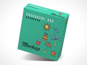 Branded Product Box PSD Mockups