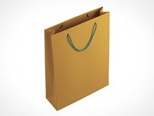 Braune Papiertüte & String-Griff-PSD-Modell