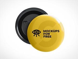 Button Flair Pins PSD Mockup