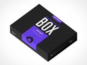 Cardboard Box Branding Packaging PSD Mockups