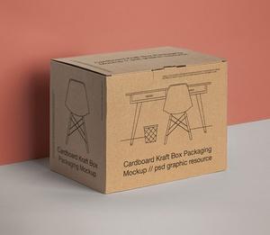 Free Cardboard Kraft Box Mockup