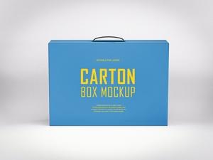 Free Carton Box Mockup PSD