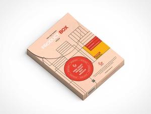 Craft Gift Box Packaging PSD Mockup